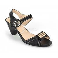 Босоножки на устойчивом каблуке, черные «Мелэйна», Черный, 36