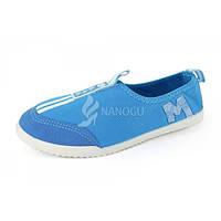 Кеды слипоны женские голубые спортивные EAE, Голубой, 40