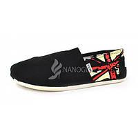 Кеды эспадрильи мужские черные с британским флагом, Черный, 40