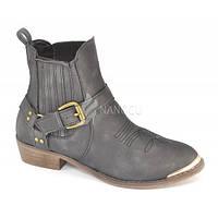 Ботинки казаки женские Mannika, Венгрия, Серый, 40