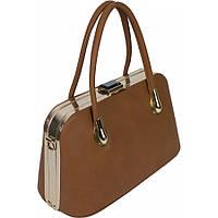 Женская сумка среднего размера коричневого цвета