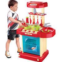 Детская кухня 008-58А электронная, свет, звук, собирается в чемодан