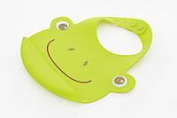 Детский нагрудник большой 29x23 см. (силикон), детская посуда