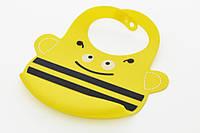 Детский нагрудник маленький 25x21 см. (силикон), детская посуда
