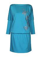 Платье женское с модным принтом для пышных форм, размеры 50-64