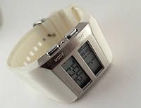 Электронные часы Alberto Kavalli цифровой стиль, стальные, белые