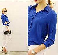 Женская шифоновая блуза с длинным рукавом!