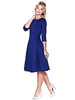 Клешное трикотажное платье B 79