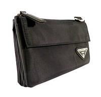 Мужская сумочка, борсетка на пояс Boloasmit 612 текстильная 11*18*5 см