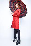 Женский плащ красного цвета  весна-осень по низким ценам