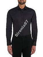 Брендовая черная рубашка Tm Lewin №149