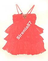 Шикарное коралловое платье. №66