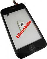 Сенсор тачскрин Apple iPhone 3GS с рамкой, черный