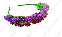 Ободок декорированный цветами Мелодия