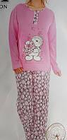 Байковая женская пижама №5102 (брюки)