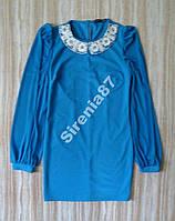 Шикарное синее мини платье №316