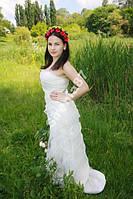 Шикарное Свадебное Платье из Органзы!