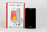 """Смартфон Note4 mini 3.5"""" Black 1н емкостный экран, мобильный телефон на 2 сим карты"""