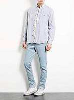 Голубые зауженные джинсы от Topman №67