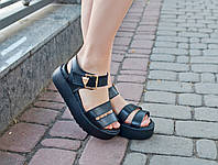 Сандалии на платформе ЛЕО кожа натуральная IK-1701 (черный)