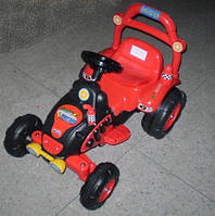 Эл-мобиль BS003-RED трактор 120*55*58см.1м.6V4,5Ah до 20кг