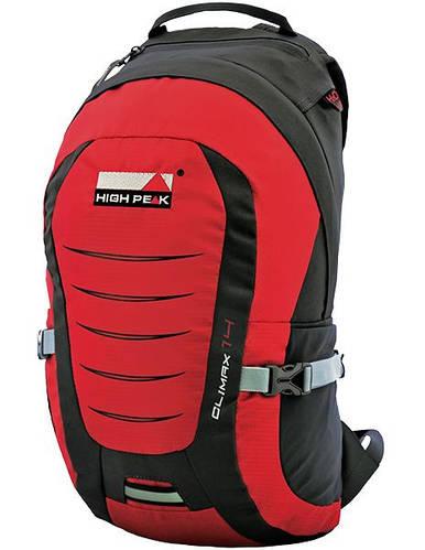 Городской универсальный рюкзак на все случаи жизни High Peak Climax 14 (Red/Dark gray) 923013 красный/серый