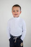 Гольф водолазка на пуговицах для мальчика белый