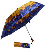 Зонт синие цветочки 775-03