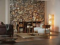 Фотообои на стену «Каменная Стена». Komar 8-727 Stone Wall