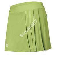 Яркая зеленая юбка-шорты для тенниса №294