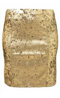 Шикарная мини золотая юбка №19