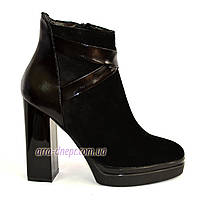 Женские классические ботинки на высоком каблуке, демисезонные