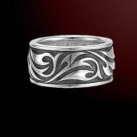 Серебряное кольцо VINES мужское женское унисекс