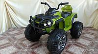 Детский квадроцикл на аккумуляторе M 0906 зеленый