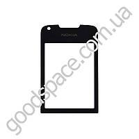 Стекло для Nokia 8800 Arte, цвет черный, тонированное