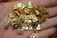 Завесы миниатюрные для шкатулки 10 мм 4 шт золото