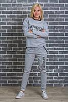 Женский спортивный  костюм светло-серый, фото 1