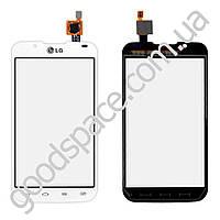 Тачскрин (сенсор) LG P715 Optimus L7 2, большая или маленькая микросхема, цвет белый, на 2 sim карты