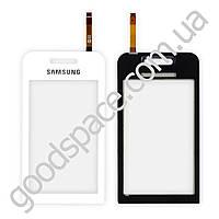 Тачскрин (сенсор) Samsung S5230, цвет белый, высокое качество