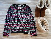 Стильный цветной свитер №147