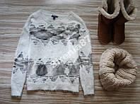 Стильный пушистый свитер №141