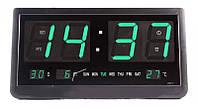 Часы  настенные  злектронные 4825 большие с будильником