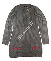 Стильное вязаное платье-туника №338