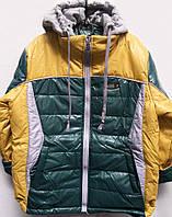 Подростковая демисезонная куртка для мальчика с оригинальным капюшоном