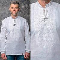 Вышитая рубашка для мужчин на льне