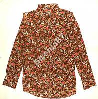 Стильная винтажная рубашка в цветочек №93