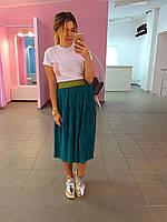 Юбка Плиссе цвета изумруд