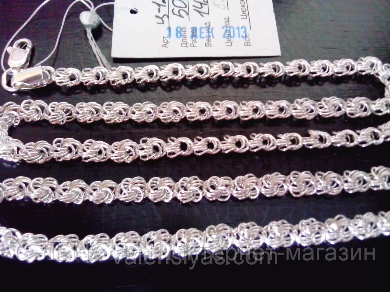 Плетение из серебра роза