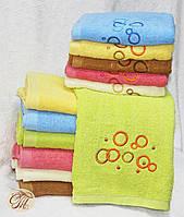 Полотенце для лица и рук Круги салатовые