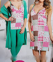 Набор женский халат + ночнушкаи и пижама 13755